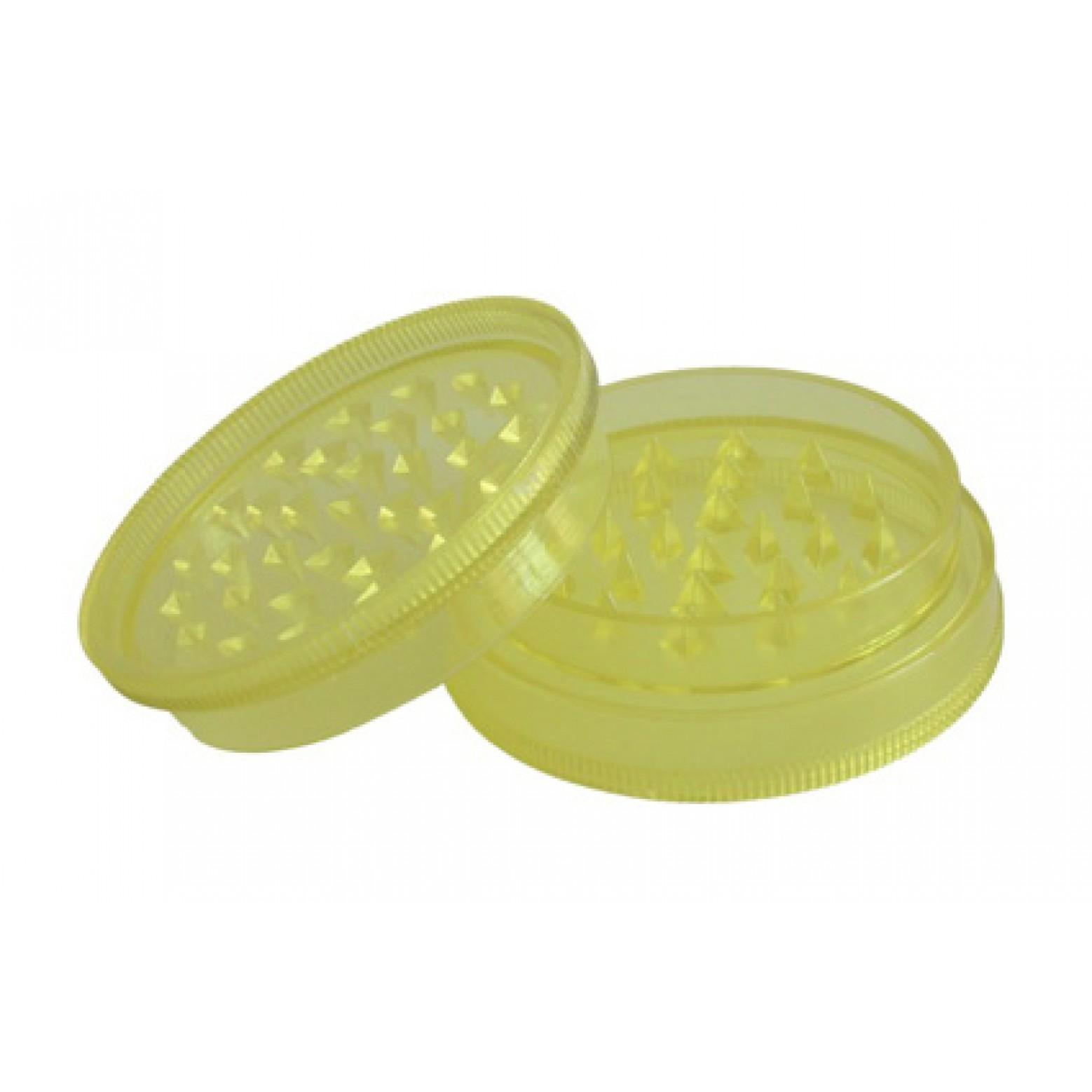 Młynek Plastikowy Żółty (Ø60mm, 2 częśći)